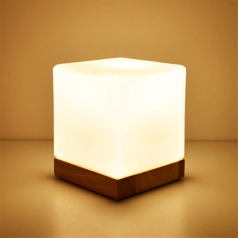 Nachtlichtdimmable Dekorative Nachttischlampe Des Nachtlichtes Schlafzimmerlampe Kreatives Einfaches Modernes Glasfestes Holz Warmes Licht Warmes B07KGD4B99 | Verwendet in der Haltbarkeit