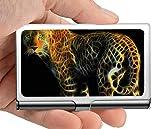 Titular de la tarjeta de visita profesional, depredador leopardo animal carnívoro Identificación/titular de la tarjeta de crédito