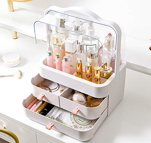 Jewelry Organizer Box Earring Holder Organizer for Women Kids Small Travel 4-Layer Rotating Jewelry Tray Storage Case for Bracelets Rings Necklace Bracelets