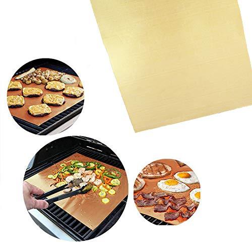 Beste BBQ-grillmat, niet-klevende matten 5 stuks voor terrassen en patio's Eenvoudig schoon te maken Barbecue-grillaccessoires 100% antiaanbaklaag