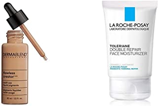 Dermablend Flawless Creator Multi-Use Liquid Foundation, 50W + La Roche-Posay Toleriane Double Repair Face Moisturizer