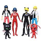 Yhkjkjiswv Miraculous Ladybug Figurine Jouet Anime Jouets Main décoration de Bureau Jouets Cadeaux d'anniversaire Jouets Poupée Populaire (Color : A01, Size : 7-12cm)