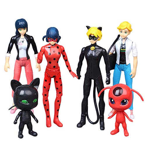 Yhkjkjiswv Miraculous Ladybug Spielzeug Figuren Anime Toys Hand Büro Dekoration Spielzeug Geburtstag Geschenke Spielzeug Puppe (Color : A01, Size : 7-12cm)
