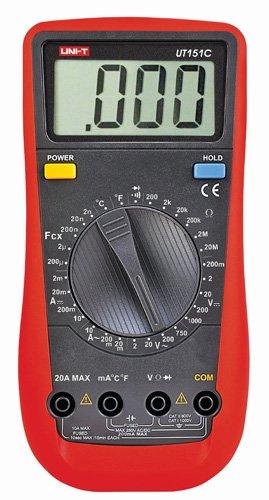 UNI-T ut-151C multímetro digital manual AC/DC con temperatura, rojo