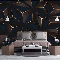 3D壁紙ポスターゴールデンラインカスタム大規模な壁紙の壁紙3Dテレビの背景リビングルームの写真の壁紙3Dルームの壁紙-200X140cm(78 x 55インチ)
