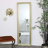 Melody Maison Espejo alto adornado de pared dorado/delgado 168 cm x 54 cm