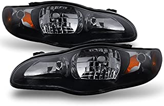 For Chevy Monte Carlo Sport Coupe Black Smoke Headlight Front Lamp Replacement Left + Right Pair