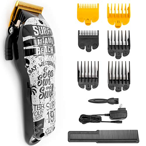 HONGNAL Professional Hair Clippers Cutting Kit,2000mAh Powerful Electric Hair Cutting Trimmer Set,240min Cordless Clipper for Men,Barbers and Stylists