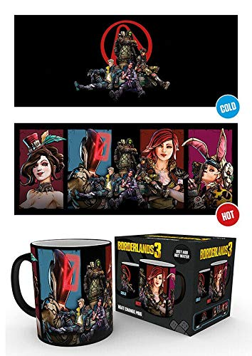 GB Eye Limited Borderlands 3 Characters 10oz 300ml Breakfast Coffe Heat Changing Ceramic Mug