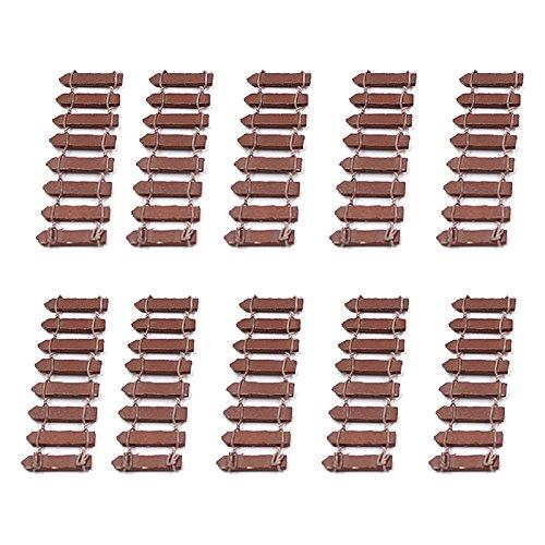 Pinzhi Jardin Féérique miniature kit Bois Clôture Terrarium Maison de poupée DIY Accessoires Décor