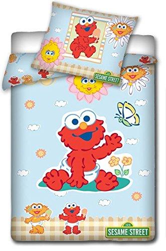 Sesame Street Maxi&Mini Parure BÉBÉ Linge DE LIT Housse DE Couette 135 x 100 cm + TAIE 40 x 60 cm DÉCO 1 Rue SÉSAME (5781)