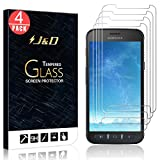 J&D Compatible for Samsung Galaxy Xcover 4S/Galaxy Xcover 4 Glass Screen Protector (4-Pack), Not Full Coverage, Tempered Glass HD Clear Ballistic Glass Screen Protector for Galaxy Xcover 4