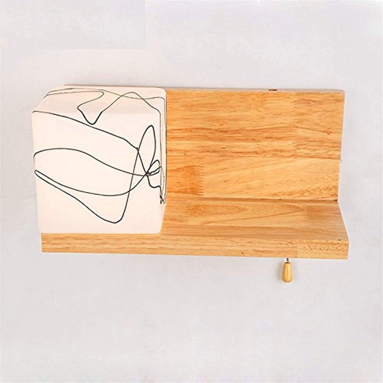Double Wandleuchte MassivSchlafzimmer Flur Hyun aus Treppenlicht-zeitschalter single Head dekorative Nachttischlampe Wandleuchte l 31 Cmh 14 cm, Warmwei 5 W-Pattern
