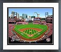 """MLB Busch Stadium St. Louis Cardinals Photo (Size: 12.5"""" x 15.5"""") Framed"""