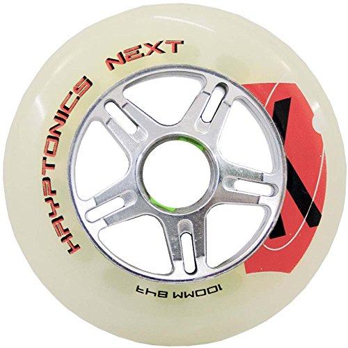 Kryptonics Erwachsene 72608 Next Race Rollen (Ersatzrollen) für alle gängigen Inliner-Marken geeignet, 4er-Pack (Klar/Silber), 80mm