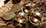 Coinring, Münzring, Ring aus Münze (20 Pfennig DDR), Messing - Double Sided coin ring - Größe 49 (15.6), handgeschmiedetes Unikat