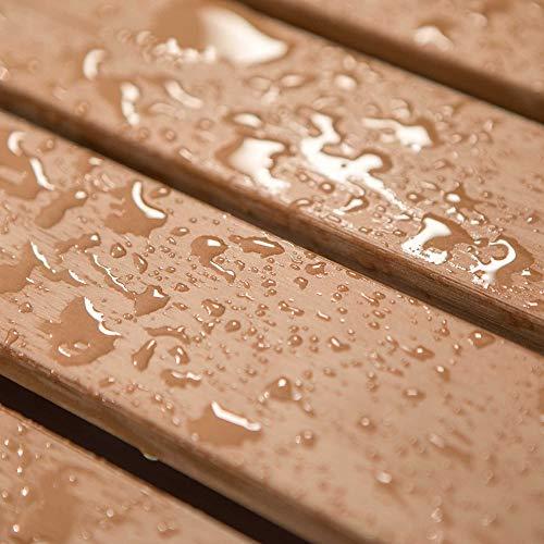 LIFETIME 60290 Wood Alternative Glider Bench, Mocha Brown