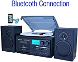 Boytone BT-28SPB, Bluetooth Classic Style Record Player Turntable with AM/FM...