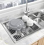 Seropy Roll Up Dish Drying Rack Over the...