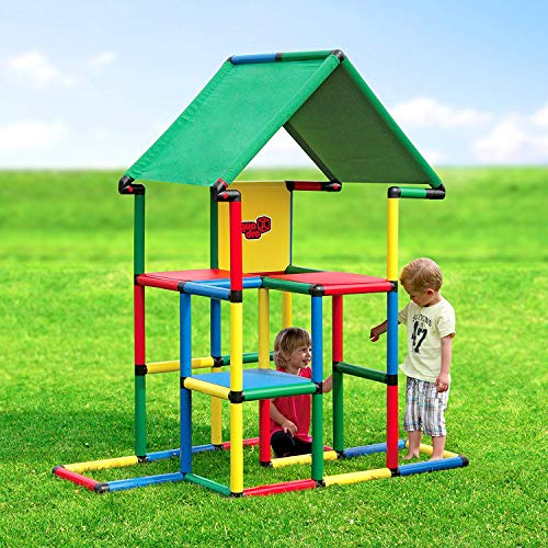 Quadro Junior - Rugged Indoor/Outdoor Climber, Tot/Toddler Jungle Gym, Expandable Modular Educational Component Playset, Giant Construction Kit, for Kids Ages 1-6 Years.