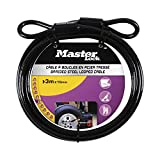 Master Lock Cable Lock, Looped End Cable for Use With Master Lock Padlocks, Best Used for Fences, Gates,...