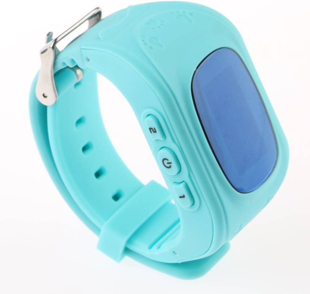 VANKER Reloj de teléfono inteligente Q50 niños Anti-perdido Tracker reloj para IOS y Android - Azul