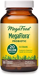 MegaFood, MegaFlora, Probiotic Supplement with 20 Billion CFU, 90 Capsules