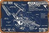 Cimily Star Trek Enterprise Blueprint Zinn Retro Zeichen