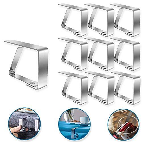 Heatigo 15 Tischdeckenclips, Tischdeckenständer, Tischclips, Tischdeckenclips aus Edelstahl für Picknick, Grill, Hochzeit, Party Tischdeckenclips