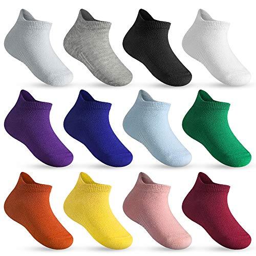 Lictin Babysocken 12 Paare Baby Antirutsch Socken Sommer Baby ABS Anti Rutsch Socken Babysocke für Baby Neugeborene 1-3 Jahre