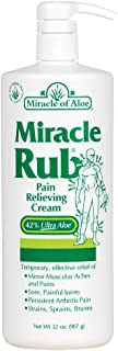 Miracle Rub Pain Relieving Cream 32 ounce bottle with pump with 42% UltraAloe
