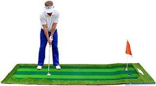 Synturfmats Golf Putting Green System Golf Training Mat Real-Like Grass Putting Trainer Set Indoor Outdooor
