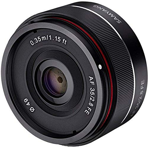 Samyang SYIO35AF-E 35mm f/2.8 Ultra Compact Wide Angle Lens for Sony E Mount Full...