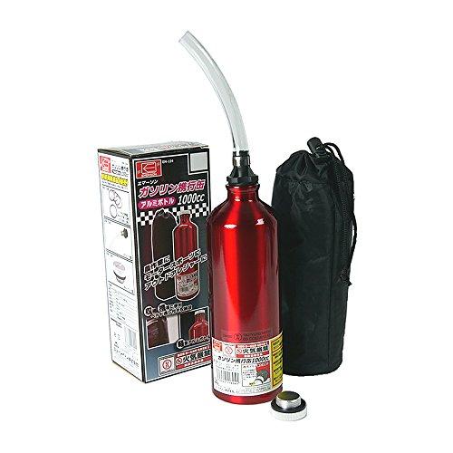 エマーソン ガソリン携行缶 1000cc EM-134 アルミボトル 超軽量150g 収納袋付き [消防法適合品 UN] 鋼板厚0.8mm EMERSON EM134 赤
