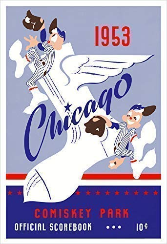 Chicago White 1 year warranty Sox - Discount mail order 1953 Comiskey Poster Program Score Card Park