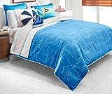 Nautica Kid's Sailboat Blueprint 100% Fine Imported Cotton Comforter Set...