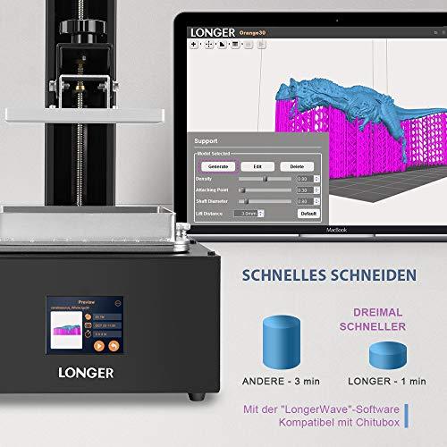 LONGER SLA Impresora 3D Orange 10, impresora de resina 3D con pantalla táctil en color, impresión fuera de línea Tamaño de compilación 3.86 x 2.17x 5.5 pulgadas
