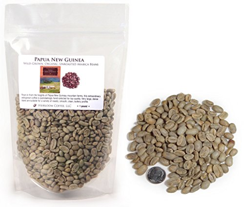 Papua New Guinea Organic Wild-grown Unroasted Green Coffee Beans (1 LB)