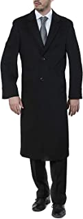 Adam Baker Men's Single Breasted Luxury Wool Full Length Topcoat - Available in Colors