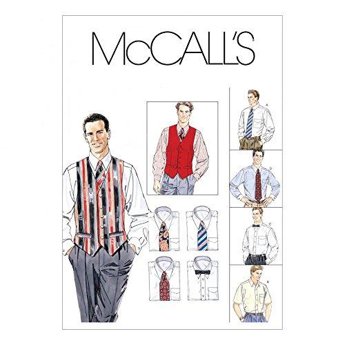 McCall 's Herren & # 39; S Schnittmuster 2447Shirts, Weste, Krawatte und Fliege + Gratis Minerva Crafts Craft Guide