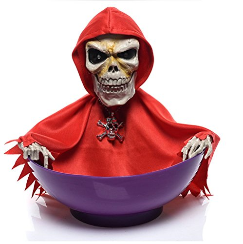 Grim Reaper Animated Halloween Bowl Sweets Holder