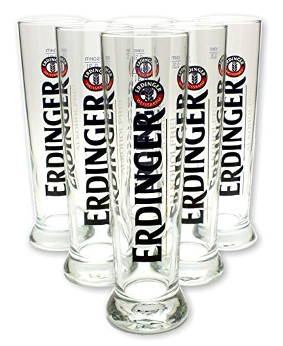 6 Stück Erdinger alkoholfrei Gläser 0,3l - Set