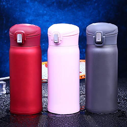 Borraccia Termica Vacuum Bottle Flacone Vuoto Vuoto da 500 ml in Acciaio Inossidabile - per Donna Nero