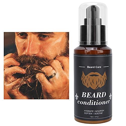 Acondicionador de aceite de barba profesional, refrescante y no graso en verano Acondicionador profundo de barba de aceite de barba facial para hombres 118 ml