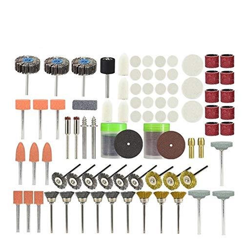 Shenyitool 145pcs Set for Dremel Rotary Zubehör Werkzeuge Schleifwerkzeuge Holz Metall Gravur Elektrodrehwerkzeug Zubehör for DREME Werkzeug (Color : 145pcs OPP Bag)