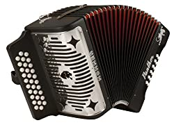 top rated Hohner Panther G / C / F 3-row Diatonic Accordion-Black 2021