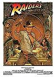 Buyartforless Indiana Jones - Raiders of The Lost Ark 1982 - Cracking The Whip 36x24 Movie Art Print Poster Harrison Ford Karen Allen Action Adventure