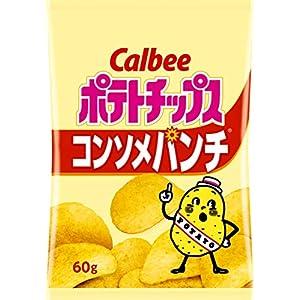 """カルビー ポテトチップス コンソメパンチ 60g × 12袋"""""""
