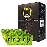 Amazon Brand - Umi Bolsas Caca Perro, Bolsas para Excrementos de Perro Biodegradables - Origen Vegetal, Compostaje, Sin Microplásticos, Resistentes a Fugas - 23 x 33 cm, 240 Bolsas