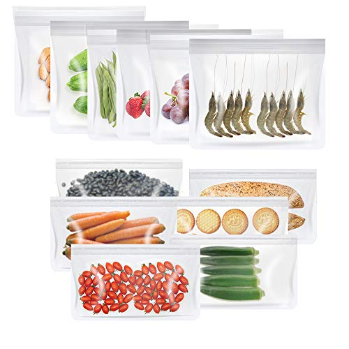 Reusable Food Storage Bags, YUEFA Sandwich & Snack Bags for Outdoor Lunch,...
